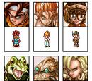 Chrono Trigger portraits with sprites