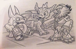 Spyro with Jet-Vac and Trigger Happy