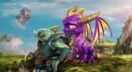 Spyro with Gill Grunt