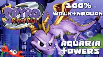 Spyro 2- Ripto's Rage! 100% Walkthrough - 7 - Aquaria Towers
