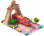 Bronze Gundam Locomotive Arch