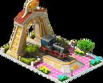 Gold Aurora Locomotive Arch