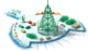 Floating Christmas Tree Construction