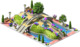 Decoration Rainbow Square
