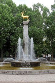 RealWorld Stag Fountain in Rudolph Wilde Park