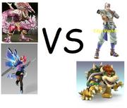 Azazel & Alisa VS Edge Master & Bowser