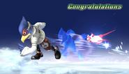 Falco Congratulations Screen Classic Mode Brawl