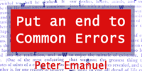 Put an end to Common Errors