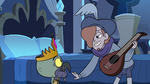 S3E6 Ruberiot strums his lute before King Ludo