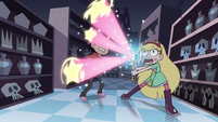 S2E18 Star Butterfly casts Shooting Star Explosion