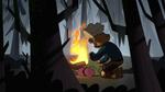 S1E6 Gustav prepares the campfire