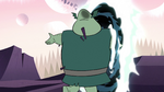 S2E12 Buff Frog returning to his tadpoles