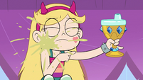 S2E15 Star Butterfly with spit up on her face