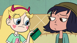 S2E18 Star Butterfly takes the gift card from Janna