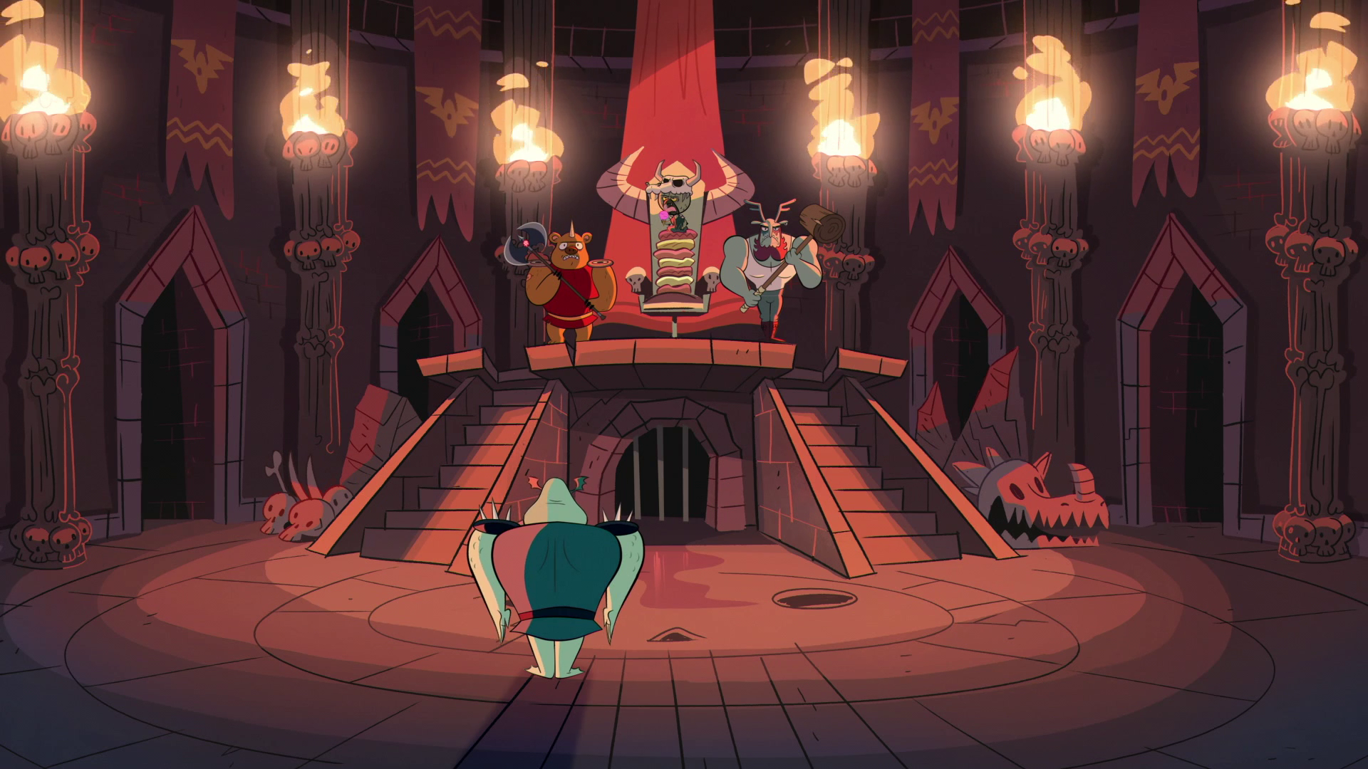 Evil kings throne room - Image S1e3 Ludo And Buff Frog In The Throne Room Png Star Vs The Forces Of Evil Wiki Fandom Powered By Wikia