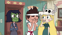 S2E21 Marco Diaz buries his face in his hands