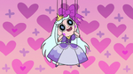 S2E40 Princess Moon puppet with a pink bow