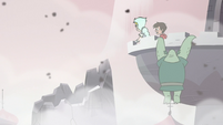 S3E7 Moon and Marco look at destroyed castle tower