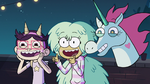 S2E41 Kelly, Pony Head, and StarFan13 encourage Star