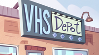 S2E4 VHS Depot store front sign