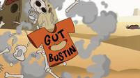 S2E13 Skeleton guy blowing apart