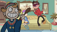 S1E6 Marco catches yet another meatball in his mouth