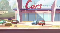S2E5 Oskar's car driving into car dealership