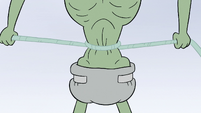S2E2 Ludo ties web around his waist