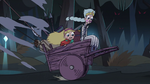 S3E1 Star and Moon riding a horse cart