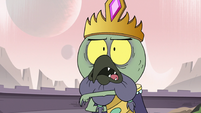 S3E7 Ludo holds his wand hand behind his back