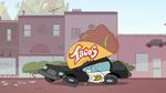 S2E7 Taco sign crushes police car