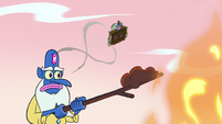 S3E3 Ludo and Book of Spells flying over Glossaryck 5