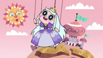 S2E40 Princess Moon puppet greeting the day