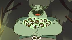 S2E12 Buff Frog hugging his tadpoles