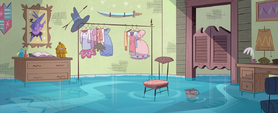 Match Maker background - Star's flooded room