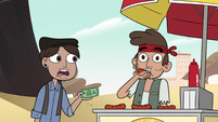 S2E9 Hot dog vendor biting a hot dog