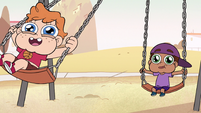 S2E9 Wide-eyed kids swinging on the swings