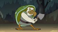S2E12 Tortoise-bird monster wielding an axe