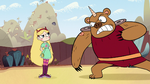 S1E16 Bearicorn throws a rock at Star
