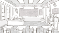 Echo Creek Academy classroom concept art