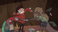 S2E28 Weasel girl pokes a hole in Marco's hoodie