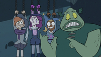 S3E7 Buff Frog pointing at Resistance members