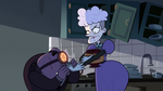 S2E18 Miss Heinous shoving money into her assistant's hands