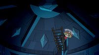 S1E7 Marco at the top of Star's loft