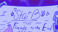 S2E18 Close-up on Star Butterfly's contract signature
