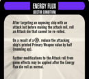 Sector Condition: Energy Flux