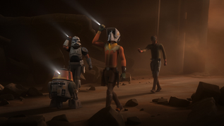 Rex with rebels on geonosis