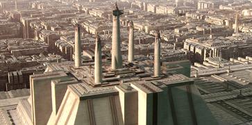 Jedi Temple spires ROTS-1