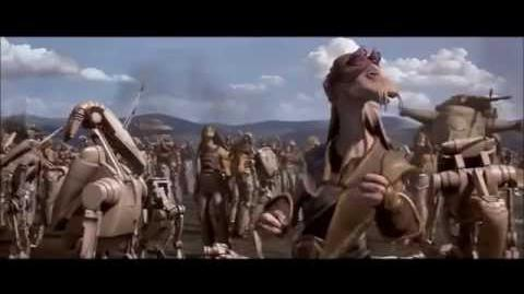 Star Wars The Phantom Menace Battle of Naboo Scene