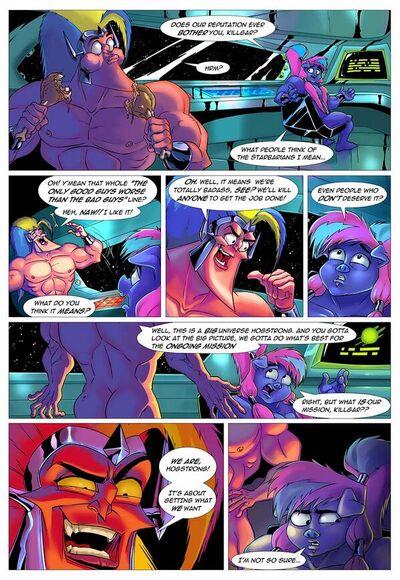 Graphic novel coloured (sucho)